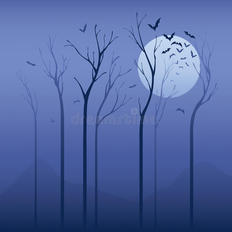 Download Scary night stock vector. Illustration of forest, scenics - 26558788