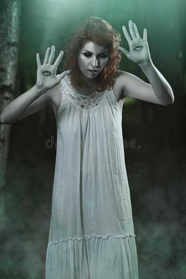 Scary night creature. Horror and halloween stock photography