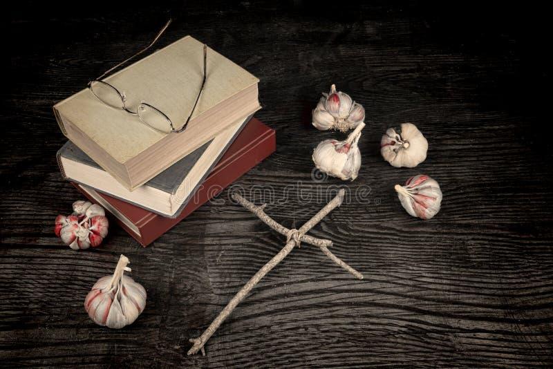 Scary novels royalty free stock image