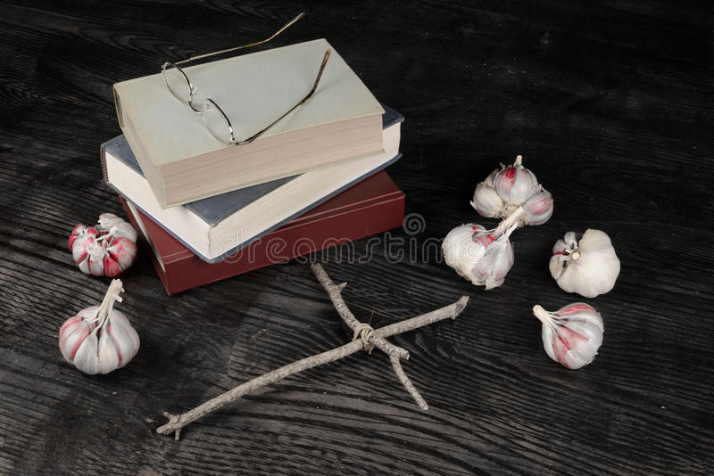 Scary novels stock photography