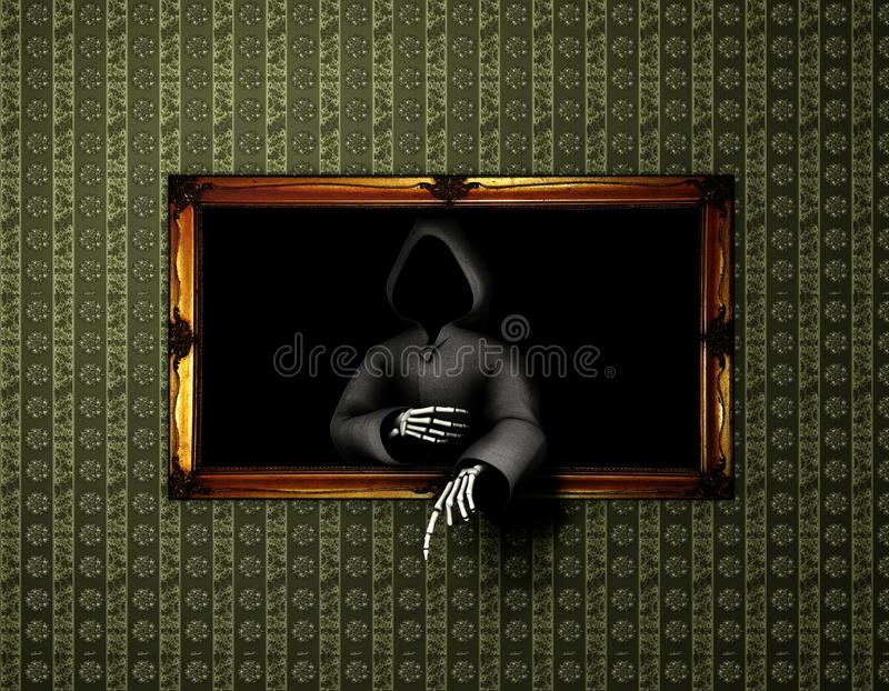 Download Scary painting stock illustration. Illustration of fear - 24094712