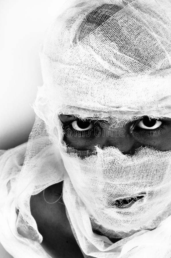 Download Scary portrait of a girl stock image. Image of bandage - 20081401