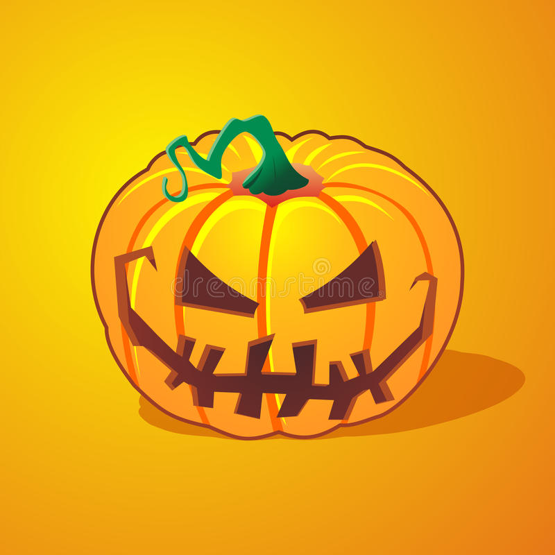 Download Scary pumpkin stock illustration. Image of brown, holidays - 21065400