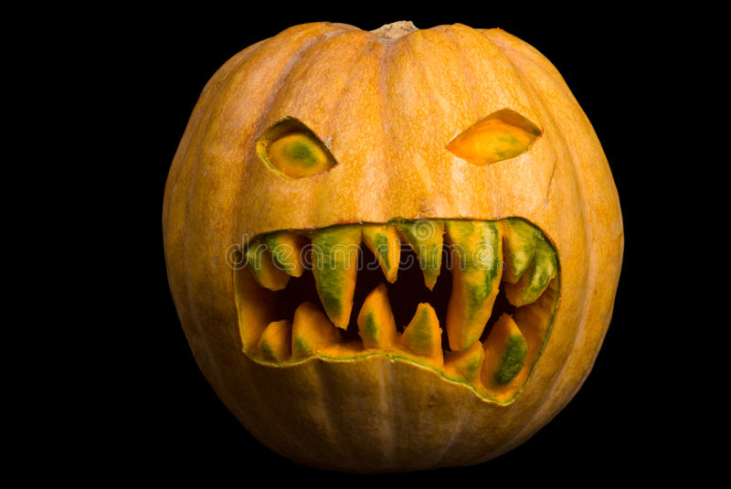 Download Scary Pumpkin stock image. Image of scary, carved, vegetable - 9787305