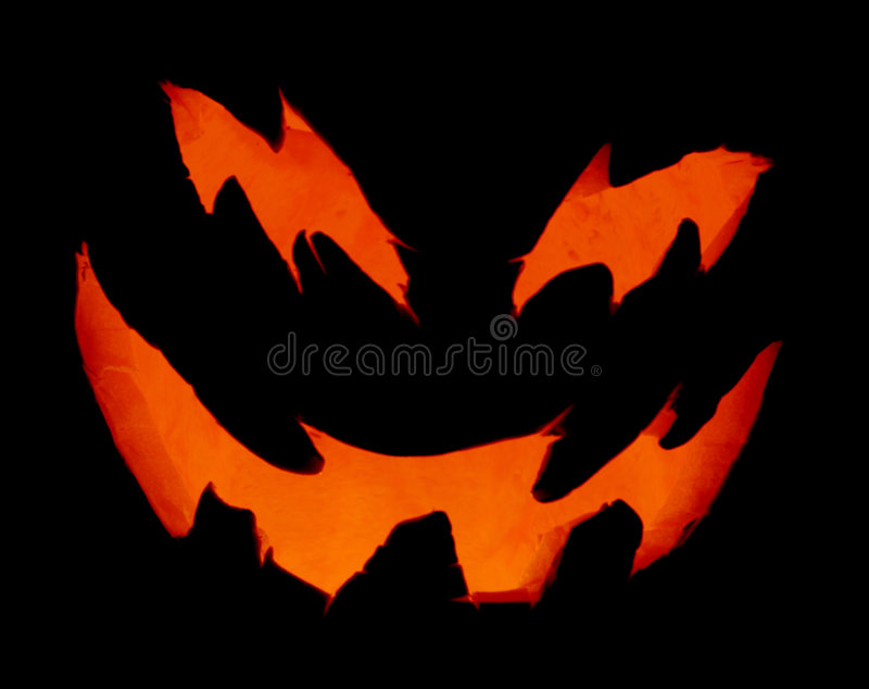 Scary Pumpkin Up Close royalty free stock photo