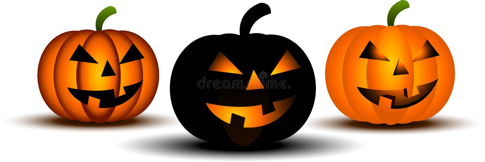 Download Scary pumpkins stock vector. Illustration of halloween - 10880726