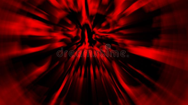 Scary red screaming vampire head. Illustration in genre of horror. Spooky character skull stock illustration