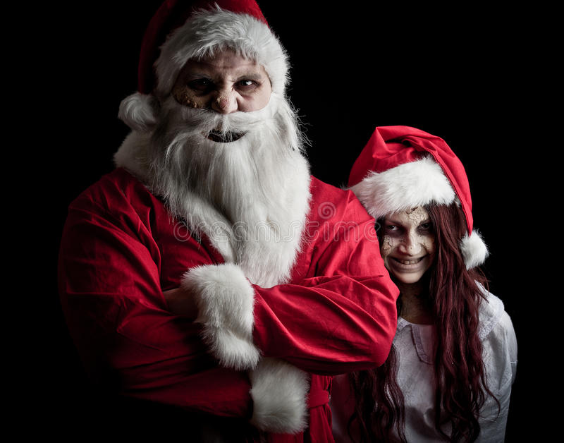 Download Scary santa stock photo. Image of spooky, dark, adult - 17471580