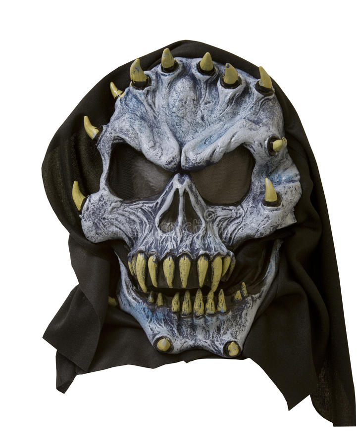 Scary spooky mask. Spooky mask isolated over a white background with a clipping path at original size royalty free stock photos
