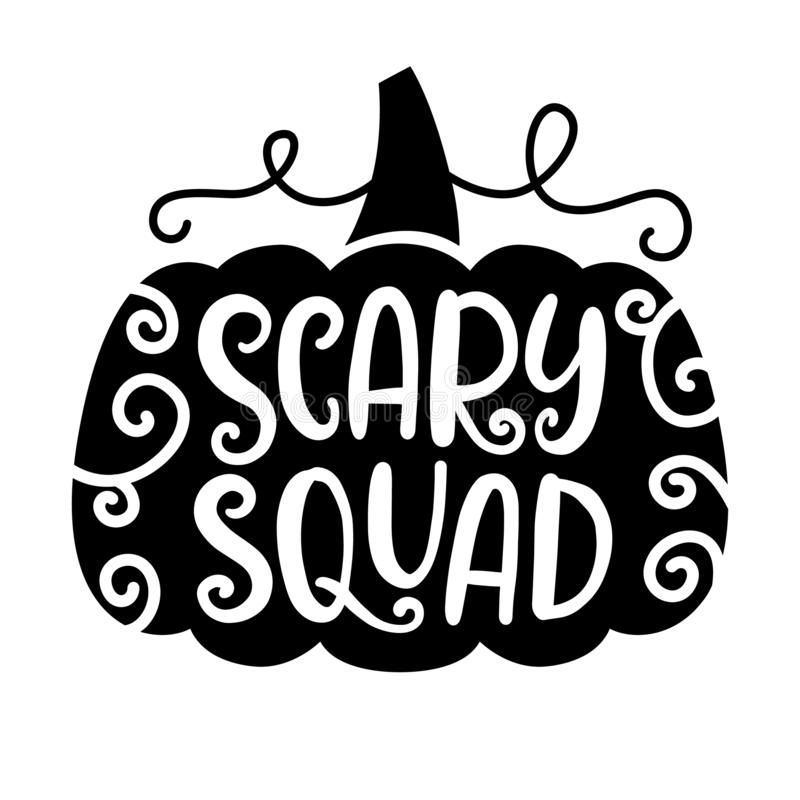 Scary Silhouette Of Pumpkin Stock Vector
