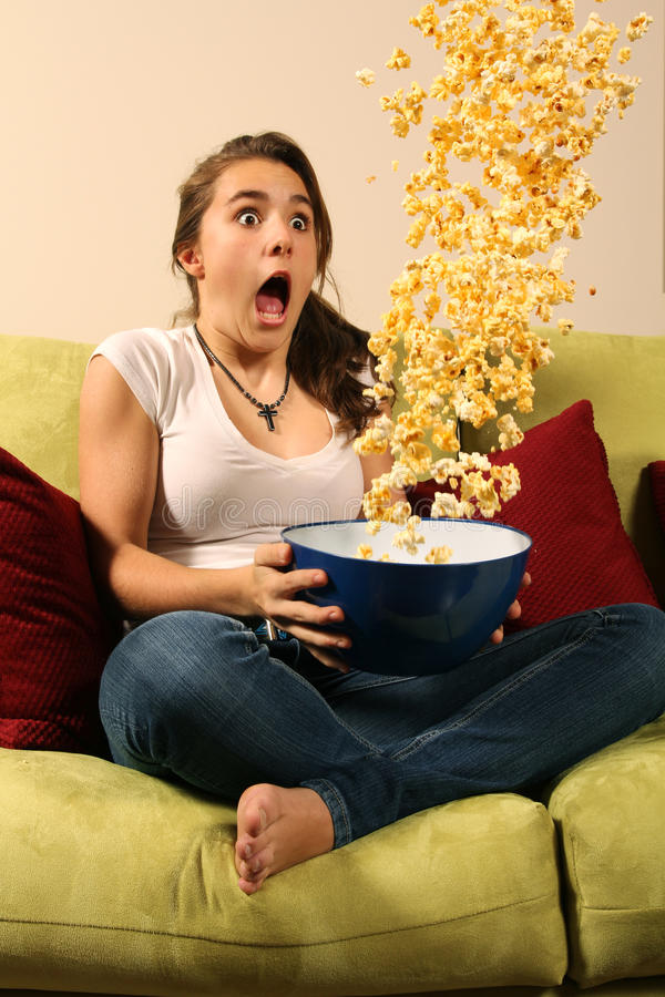 Download Scary teenager stock photo. Image of movie, scared, kernels - 17879666