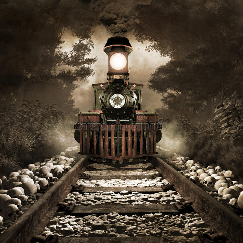 Scary train royalty free illustration