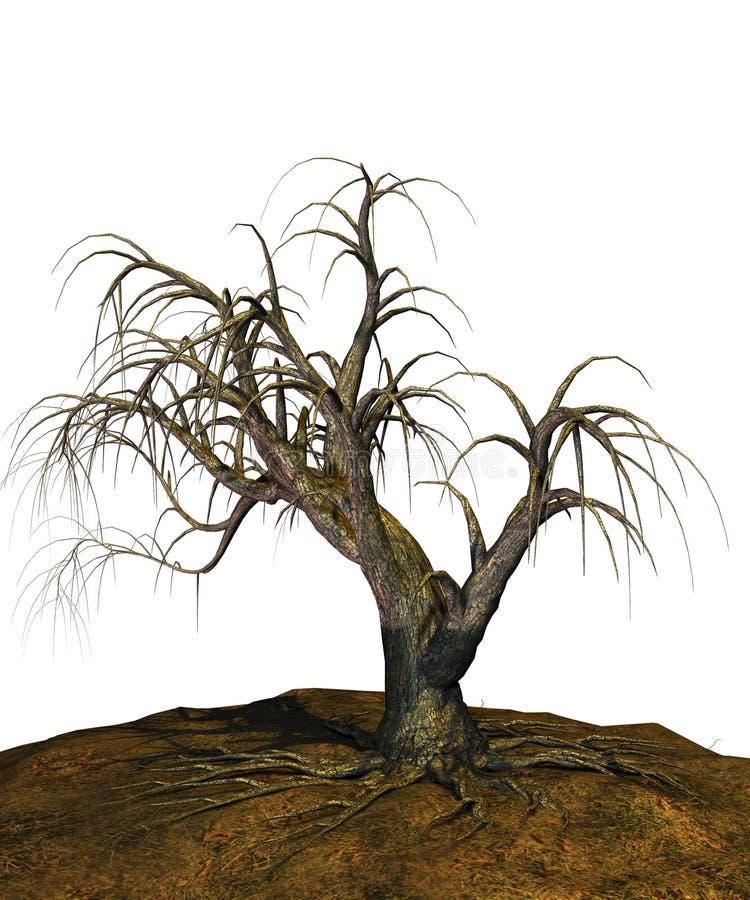 Scary tree royalty free illustration