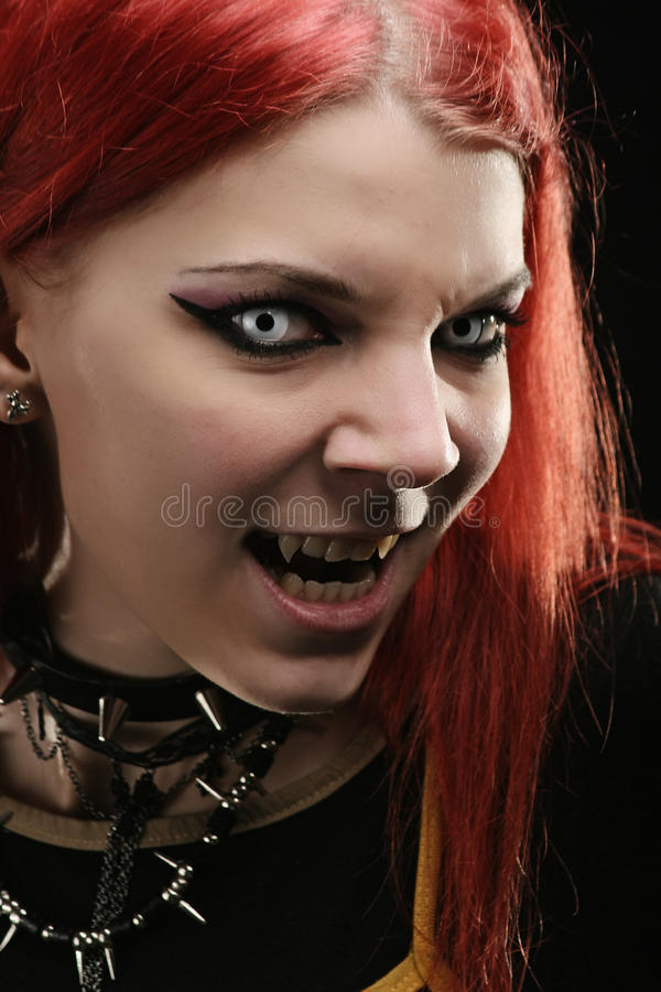 Scary vampire girl royalty free stock images