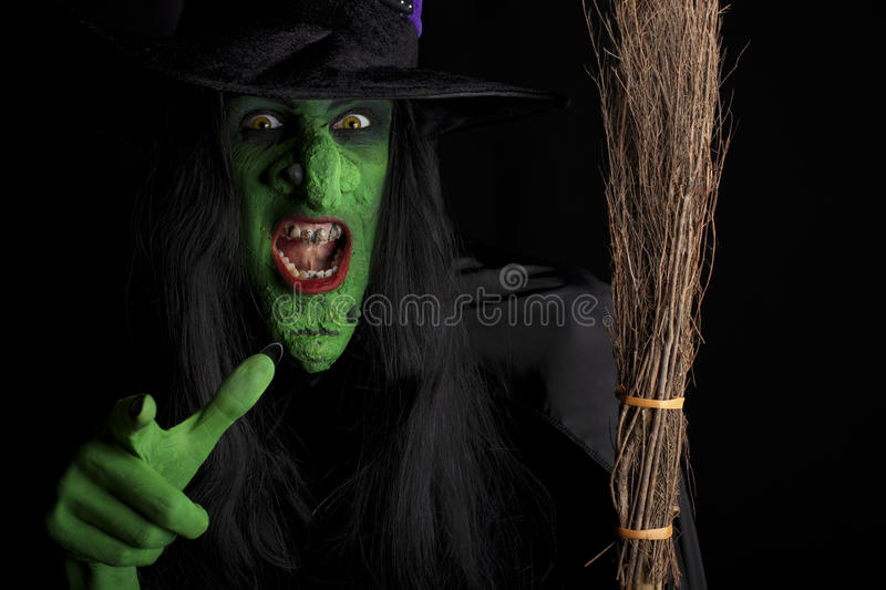 Scary witch. stock photos