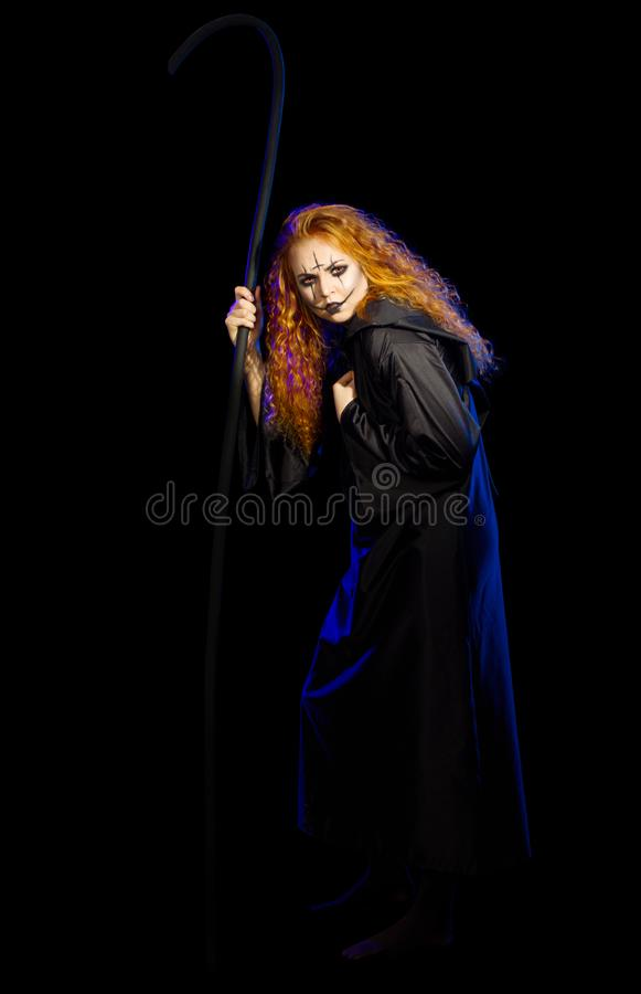 Scary witch isolated stock image