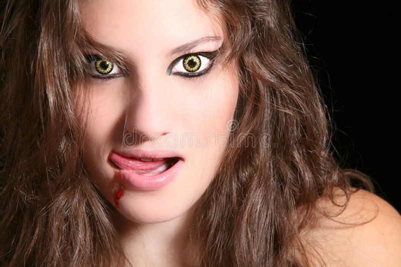 Scary woman stock photography