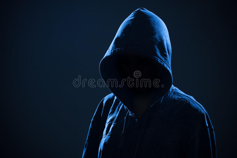 Download Scary Woman With Hood In Darkness Stock Photo - Image: 28801706