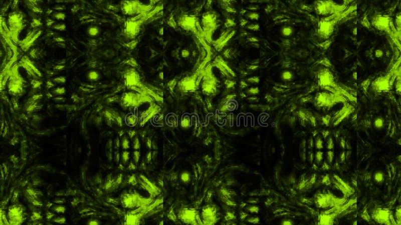 Scary zombie face pattern on black background royalty free illustration