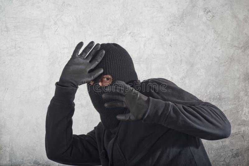 Scassinatore catturato fotografie stock libere da diritti