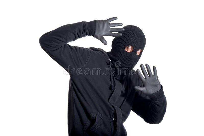 Scassinatore catturato fotografie stock