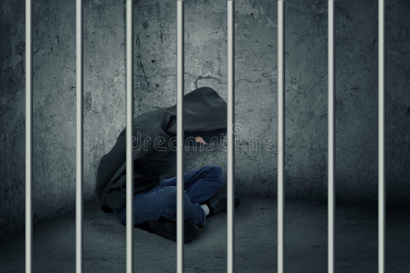Scassinatore in prigione fotografia stock libera da diritti