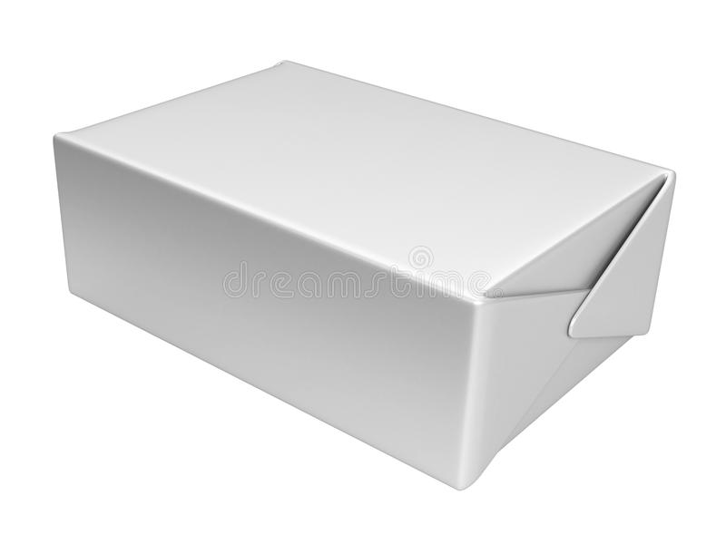 Scatola bianca illustrazione di stock
