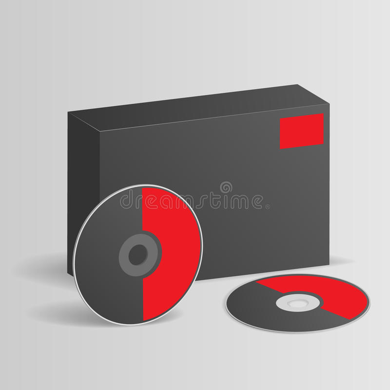 Scatola in bianco del software con il disco illustrazione vettoriale