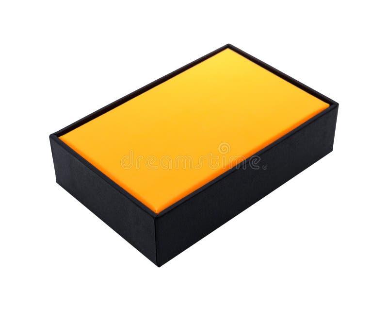Scatola in bianco isolata su fondo bianco Due strati del pacchetto del prodotto per la vostra progettazione Oggetto dei percorsi  fotografia stock libera da diritti