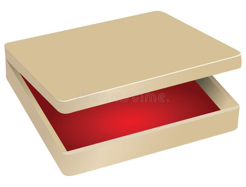 Scatola con velluto rosso illustrazione di stock