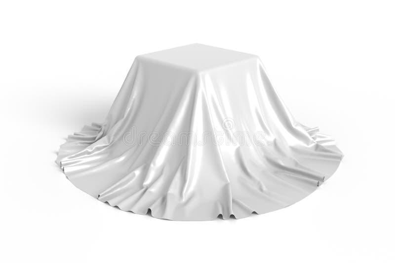 Scatola coperta di tessuto bianco royalty illustrazione gratis
