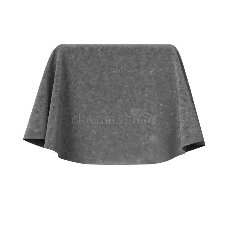 Scatola coperta di tessuto rosso del velluto royalty illustrazione gratis