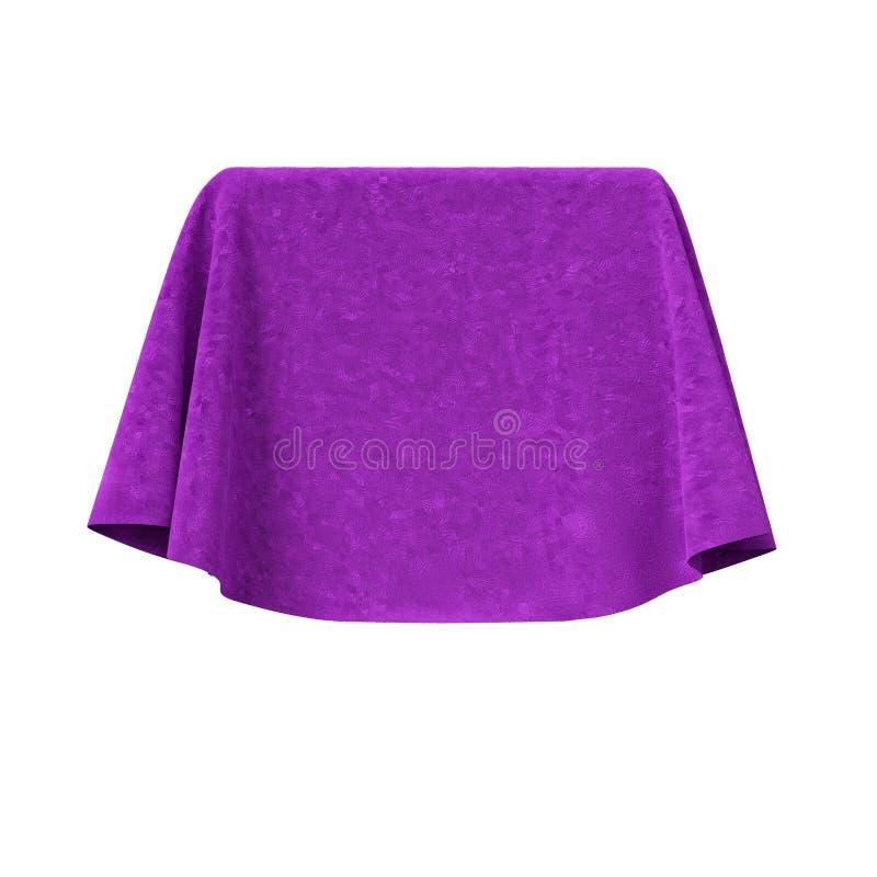 Scatola coperta di tessuto rosso del velluto illustrazione di stock