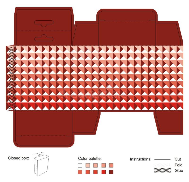 Scatola d'attaccatura con struttura rossa immagini stock libere da diritti