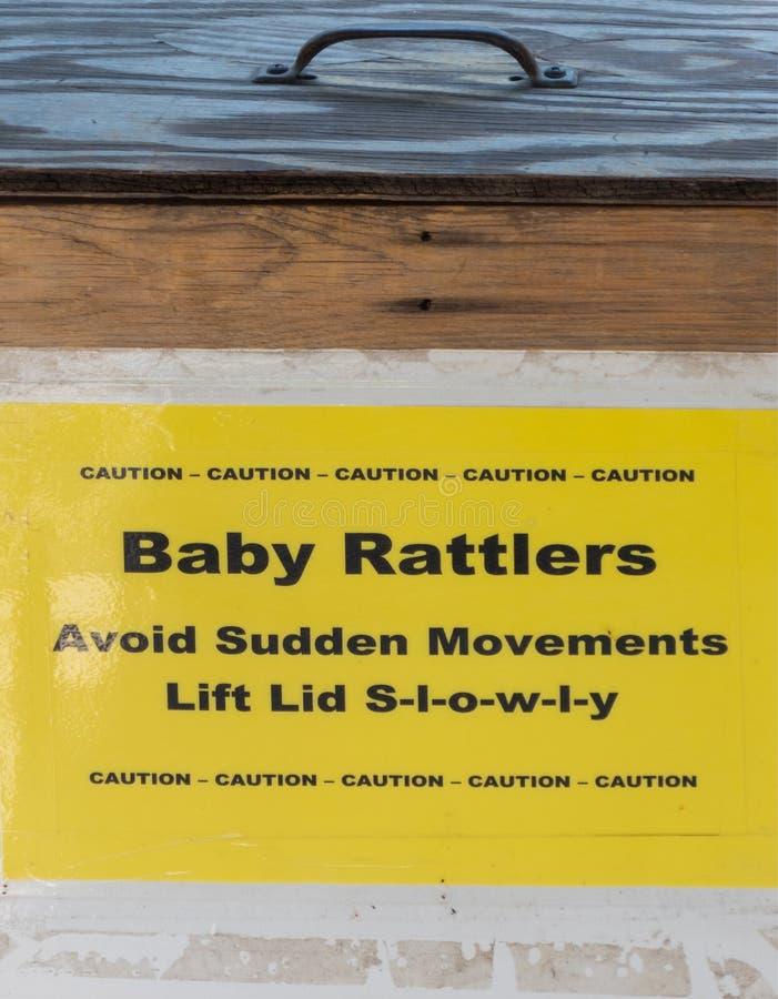 Scatola del bambino Rattlers immagini stock libere da diritti