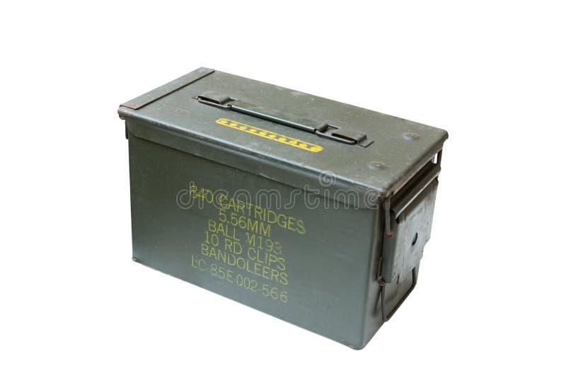 Scatola della pallottola del metallo fotografia stock