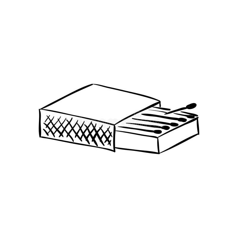 Scatola delle partite Pacchetto in bianco illustrazione della rappresentazione 3D isolata su fondo bianco royalty illustrazione gratis