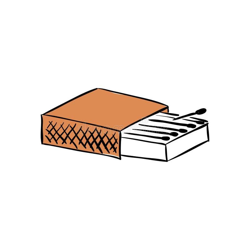 Scatola delle partite Pacchetto in bianco illustrazione della rappresentazione 3D isolata su fondo bianco illustrazione di stock
