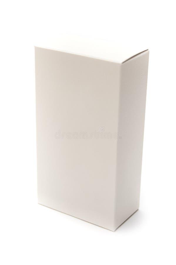 Scatola di cartone bianca immagini stock libere da diritti