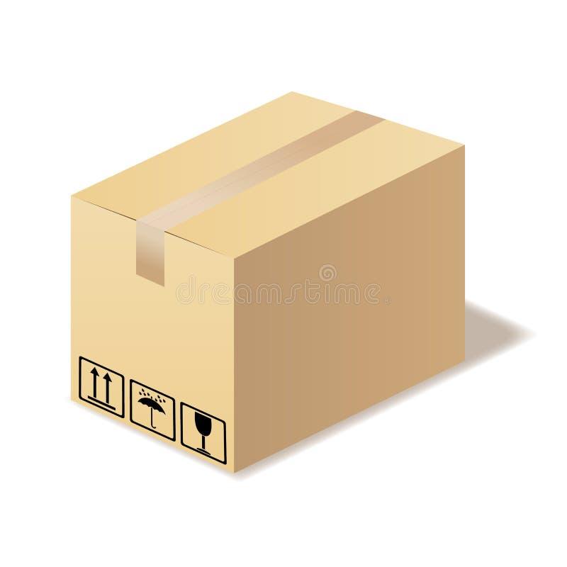 Download Scatola di cartone chiusa. illustrazione vettoriale. Illustrazione di muoversi - 30829117