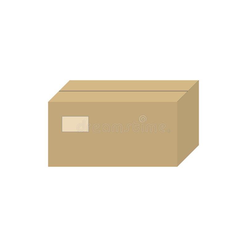 Scatola di cartone marrone chiusa dell'illustrazione di vettore fotografia stock