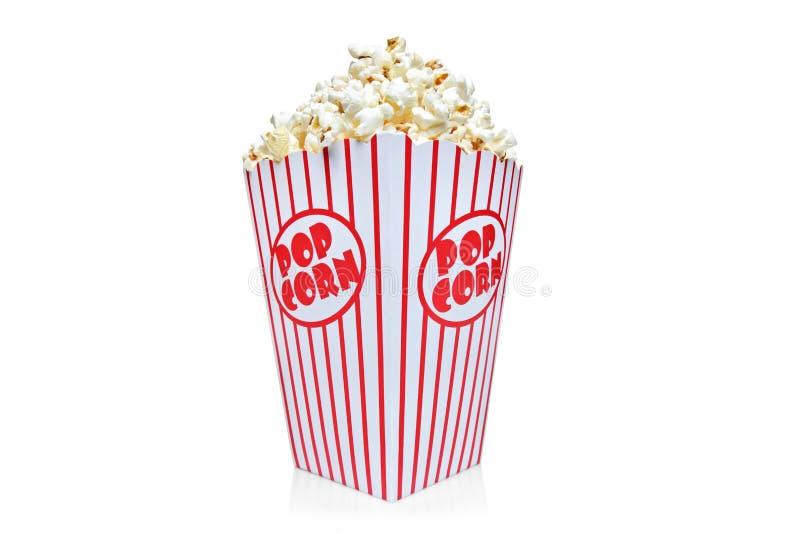 Scatola di contenitore rosso e bianco di popcorn fotografie stock libere da diritti