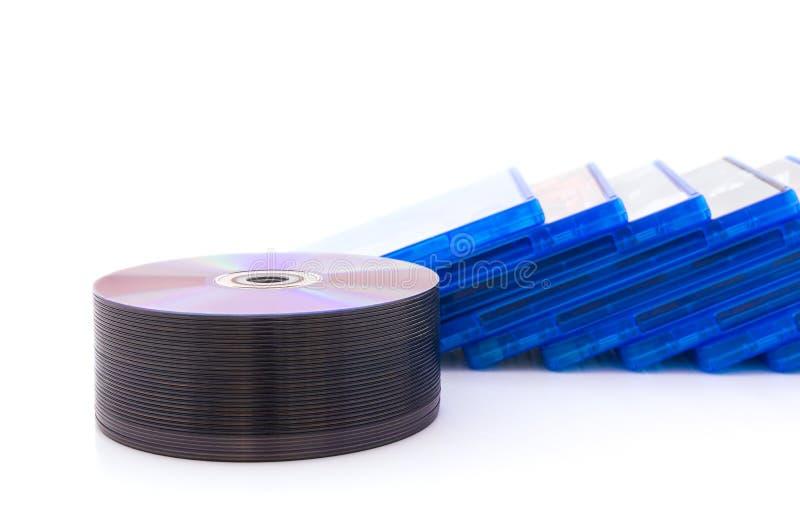 Scatola di DVD/CD con il disco immagini stock libere da diritti