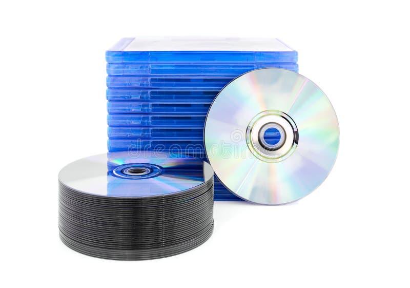 Scatola di DVD con il disco fotografia stock
