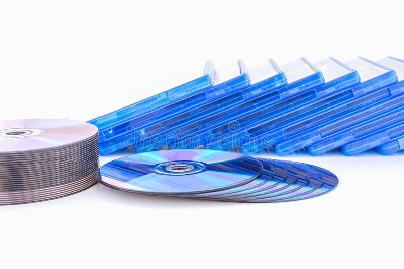 Scatola di DVD con il disco fotografie stock libere da diritti