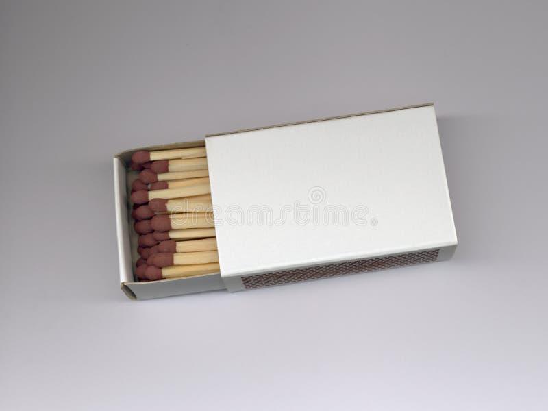 Scatola di fiammiferi piena fotografie stock