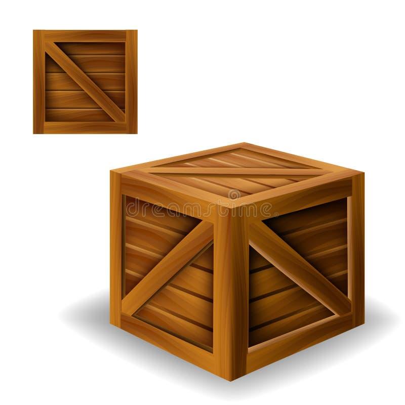 Scatola di legno illustrazione vettoriale