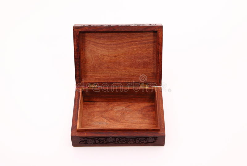 Scatola di legno immagini stock libere da diritti