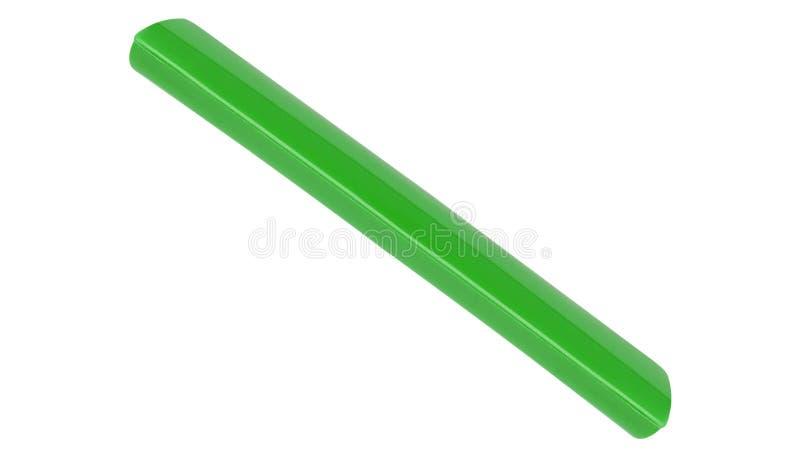 Scatola di plastica verde isolata su bianco immagini stock