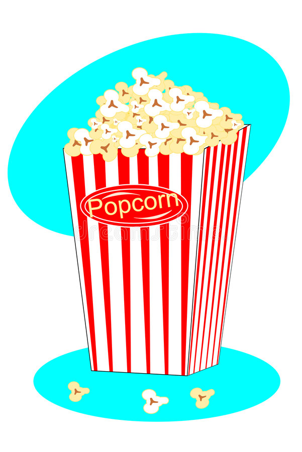 Download Scatola di popcorn illustrazione vettoriale. Illustrazione di imburrato - 7310169